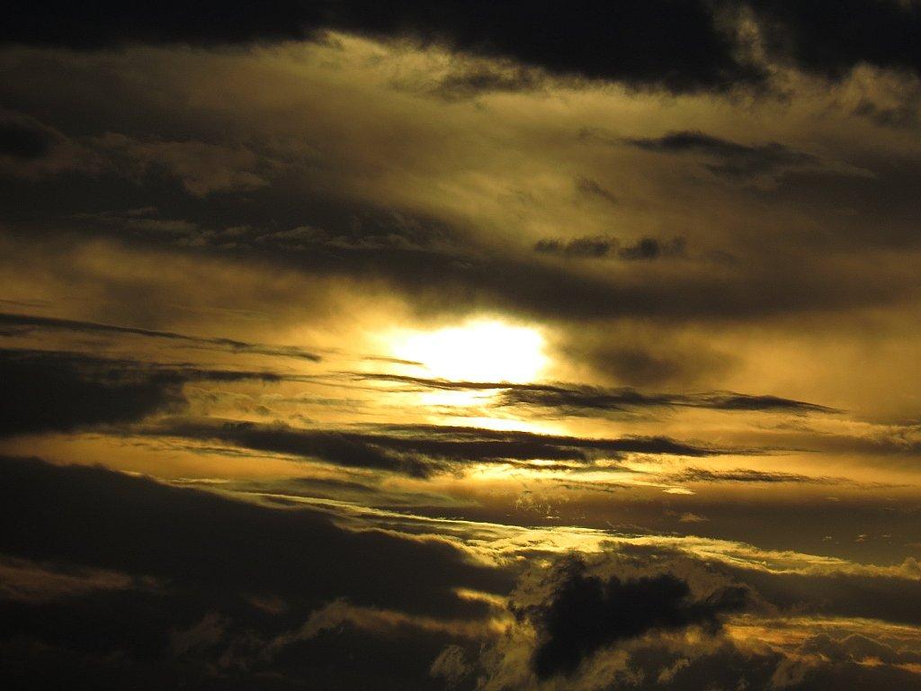 Coucher de soleil - Marais de kaw